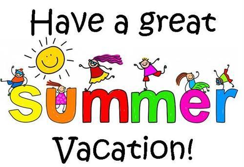 best wishes for an amazing summer vacation pft rh plainedgeteachers org cartoon summer vacation clipart summer vacation homework clipart